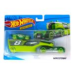 Mattel Hot Wheels City: Wingstorm aut?sz?ll?t? kamion versenyaut?val - z?ld