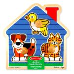 Melissa and Doug Melissa and Doug: Fa k?szs?gfejleszt? j?t?k - ?llatos puzzle foganty?val
