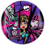 Amscan- SI Monster High: 8 darabos papírtányér, 18 cm