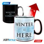 Abysee Corp. Trónok harca: Winter is coming - Winter is here feliratú hőre változó bögre - 460 ml