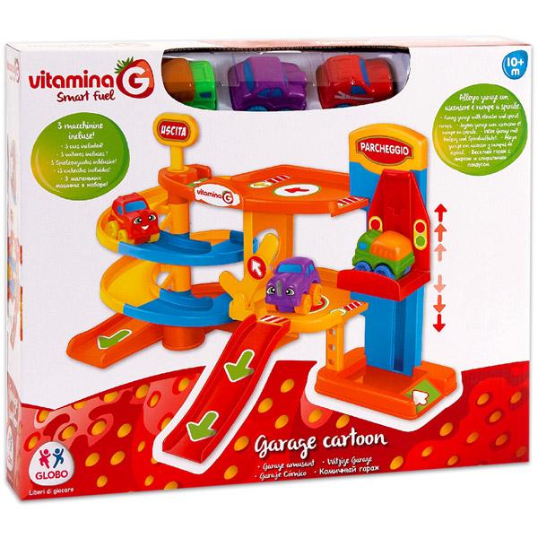 Globo Vitamina G Smart Fuel  műanyag parkolóház 3 autóval - Játék webáruház    online játék webshop - iWay Játékbolt f040d78b5a